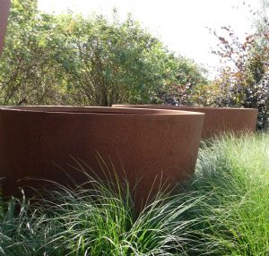 Corten Steel Cone Planters from Potstore.co.uk